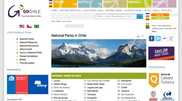 National Parks of Chile